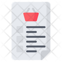 List Shopping Paper Icon