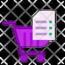 Shopping List Cart Trolley Icon