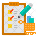 Shopping List Clipboard Checklist Icon