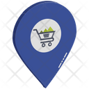 Shopping Location Cart In Gps Shopping Pointer Icon