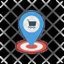 Cart Location Map Icon