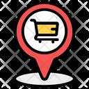 Shopping Location Shopping Address Market Location Icon