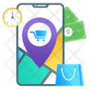 Shopping Location Shopping Address Ecommerce Icon