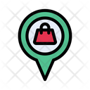 Location Pin Shopping Icon