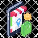 Online Shopping Shopping App Shipment Tracking Icon