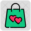 Valentine Day Shopping Bag Heart Icon