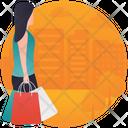Shopping Mall Shopping Center Woman Shopper Icon