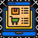 Shopping On Laptop Shopping Online Cart Icon