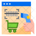 Shopping Online Scan Shopping Icon
