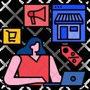 Shopping Online Women Ecommerce Icon