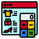 Shopping Payment Calculation Calculator Accounting Icon