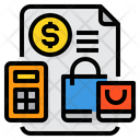 Shopping Payment Receipt Icon