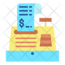 Shopping Receipt Till Supplier Cash Register Icon