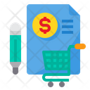 Marketing Report Shopping Icon