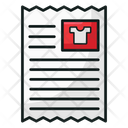 Invoice Shopping Invoice List Icon