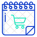 Shopping Schedule Icon