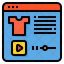 Streaming Shopping Video Player Icon