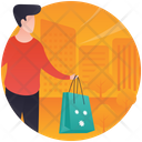Shopping Time Christmas Gift Party Gift Icon