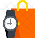 Shopping Time Shopping Bag Ecommerce Icon
