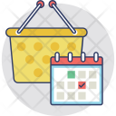 Shopping Time Schedule Icon