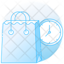 Shopping Time Shopping Duration Shopping Clock Icon