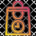 Bag Shopping Clock Icon