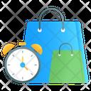 Shopping Time Ecommerce Shopping Alarm Icon