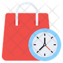 Shopping Time Purchasing Time Buying Time Icon