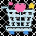 Shopping Trolley Love Trolley Icon