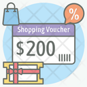 Shopping Voucher Discount Card Sale Promotion Icon