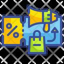 Shopping Voucher Promotion Megaphone Icon