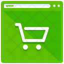Shopping Webpage Ecommerce Icon