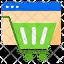Shopping Website Online Shopping Digital Shopping Icon