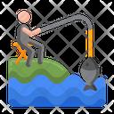 Shore Fishing Icon