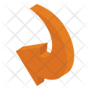Short Arc Arrow Icon
