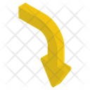 Short Arch Arrow Icon