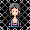 Short Hair Girl Icon