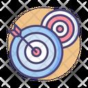 Short Term Goals Dartboard Dart Game Icon