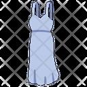 Shoulder empire dress Icon