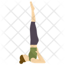 Shoulderstand pose Icon