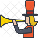 Clown Shouting Megaphone Icon