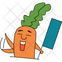 Shouting Carrot Icon