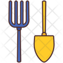 Shovel Fork Agriculture Icon