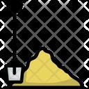 Shovel Sand Drawn Icon