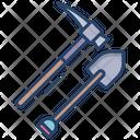 Shovel Pikeaxe Construction Icon