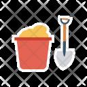 Shovel Mine Construction Icon