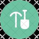 Shovel And Axe Icon