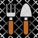 Shovel Pitchfork Gardning Equipment Gardening Tool Icon
