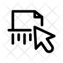 Shredder Pointer Point Icon