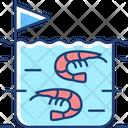 Fishery Shrimp Farming Icon
